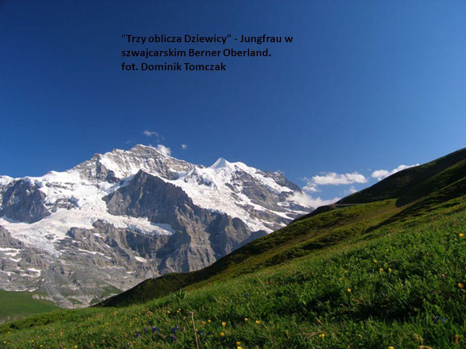 Trzy oblicza Dziewicy - Jungfrau w szwajcarskim Berner Oberland. fot