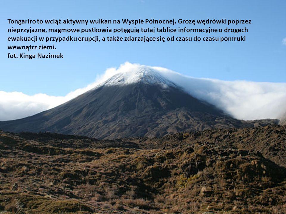 Tongariro to wciąż aktywny wulkan na Wyspie Północnej