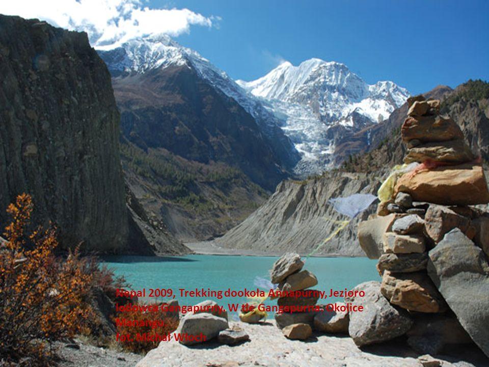 Nepal 2009, Trekking dookoła Annapurny, Jezioro lodowca Gangapurny