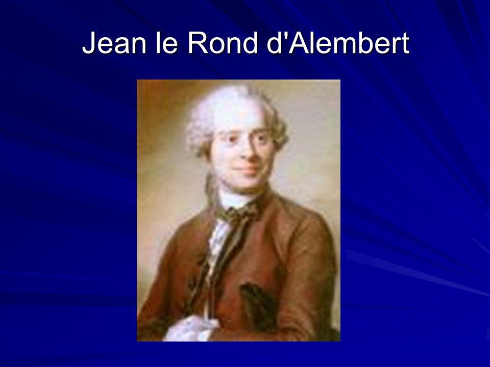 Jean le Rond d Alembert