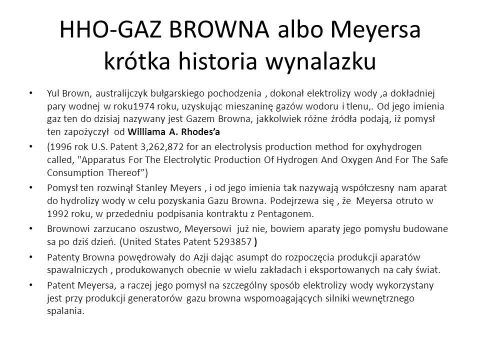 HHO-GAZ BROWNA albo Meyersa krótka historia wynalazku