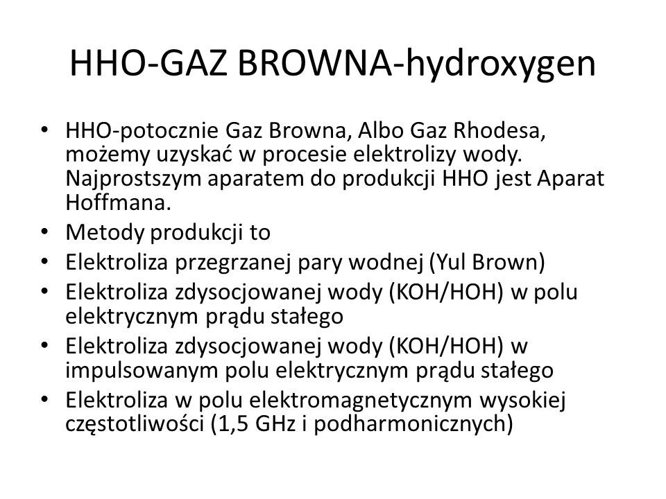 HHO-GAZ BROWNA-hydroxygen