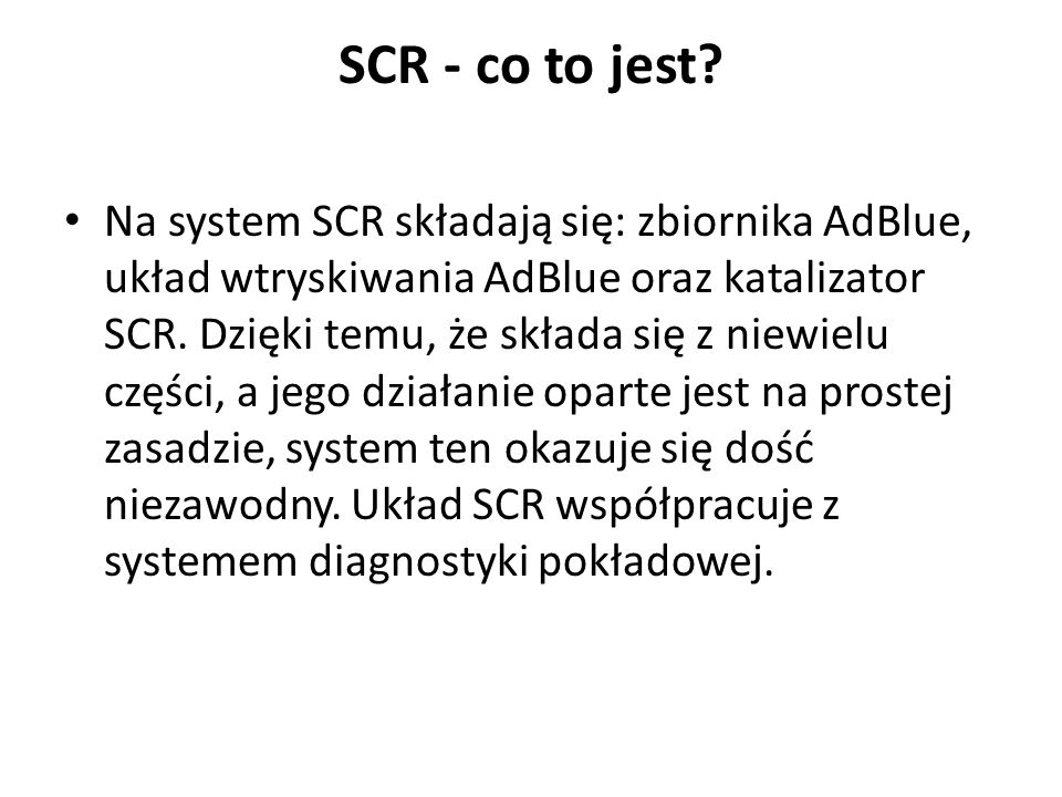 SCR - co to jest