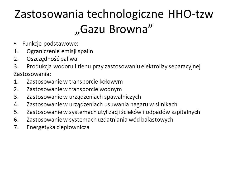 """Zastosowania technologiczne HHO-tzw """"Gazu Browna"""