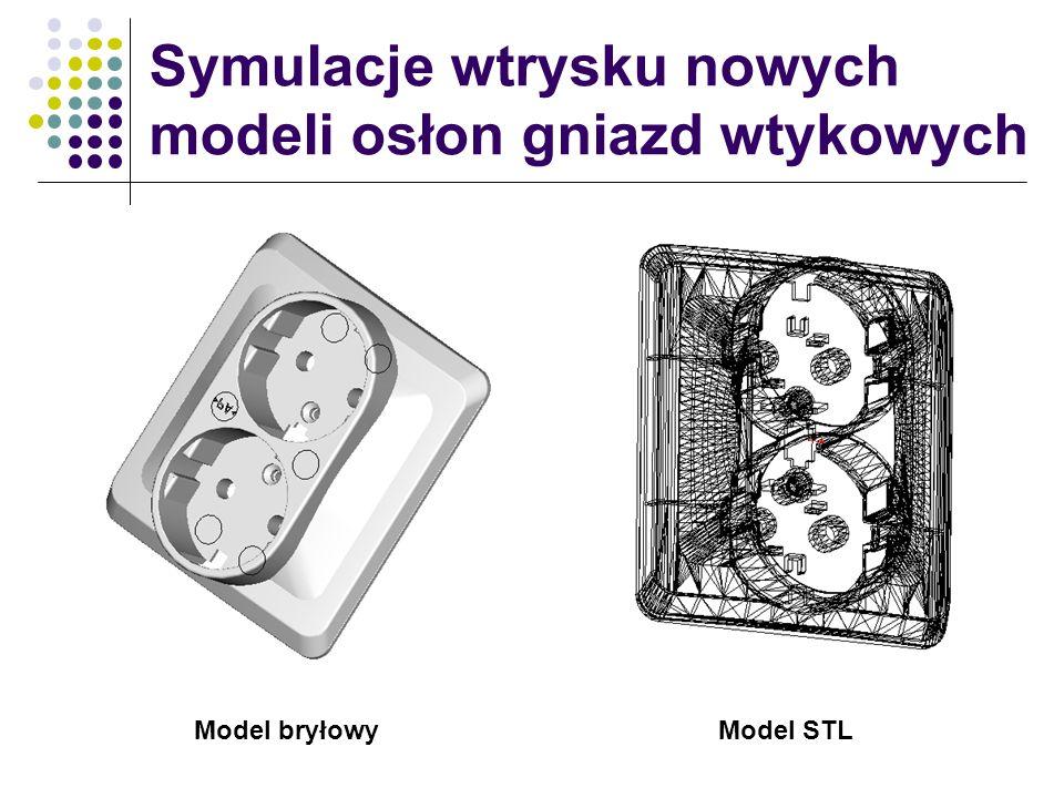 Symulacje wtrysku nowych modeli osłon gniazd wtykowych