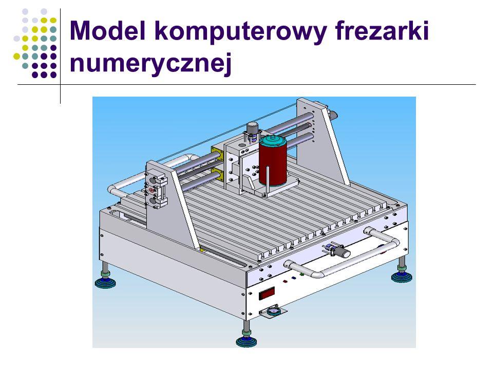 Model komputerowy frezarki numerycznej