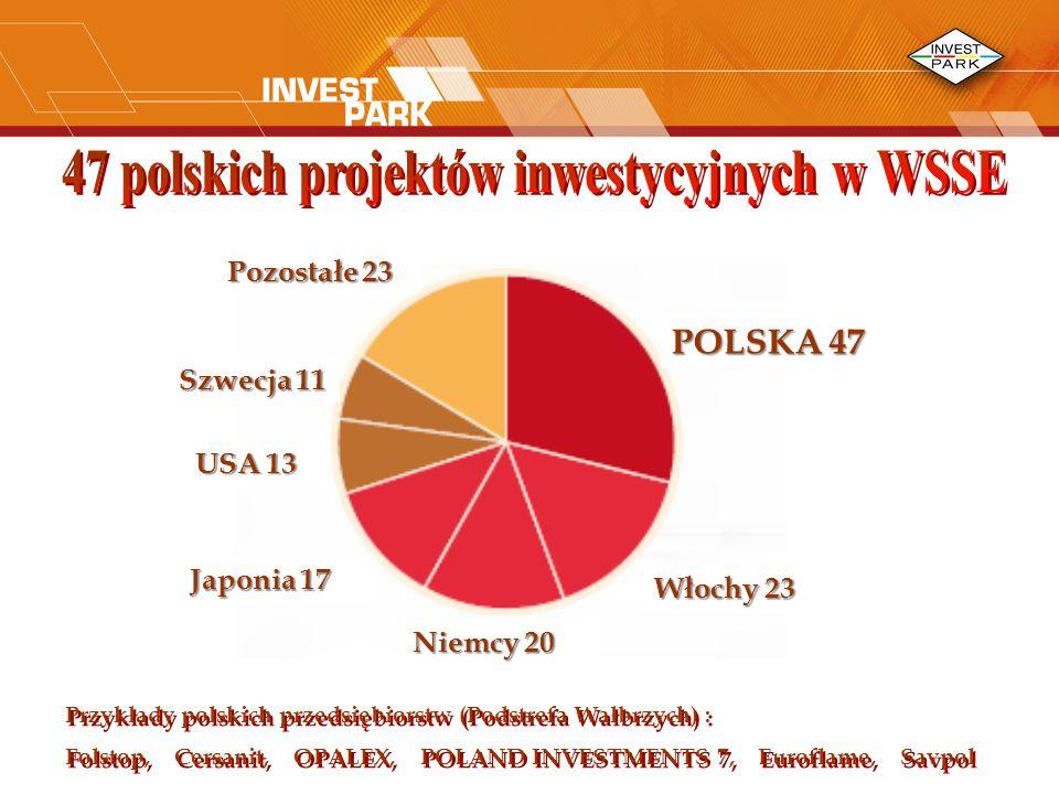 47 polskich projektów inwestycyjnych w WSSE