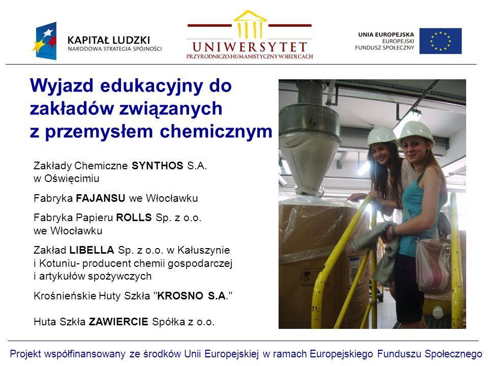 Wyjazd edukacyjny do zakładów związanych z przemysłem chemicznym
