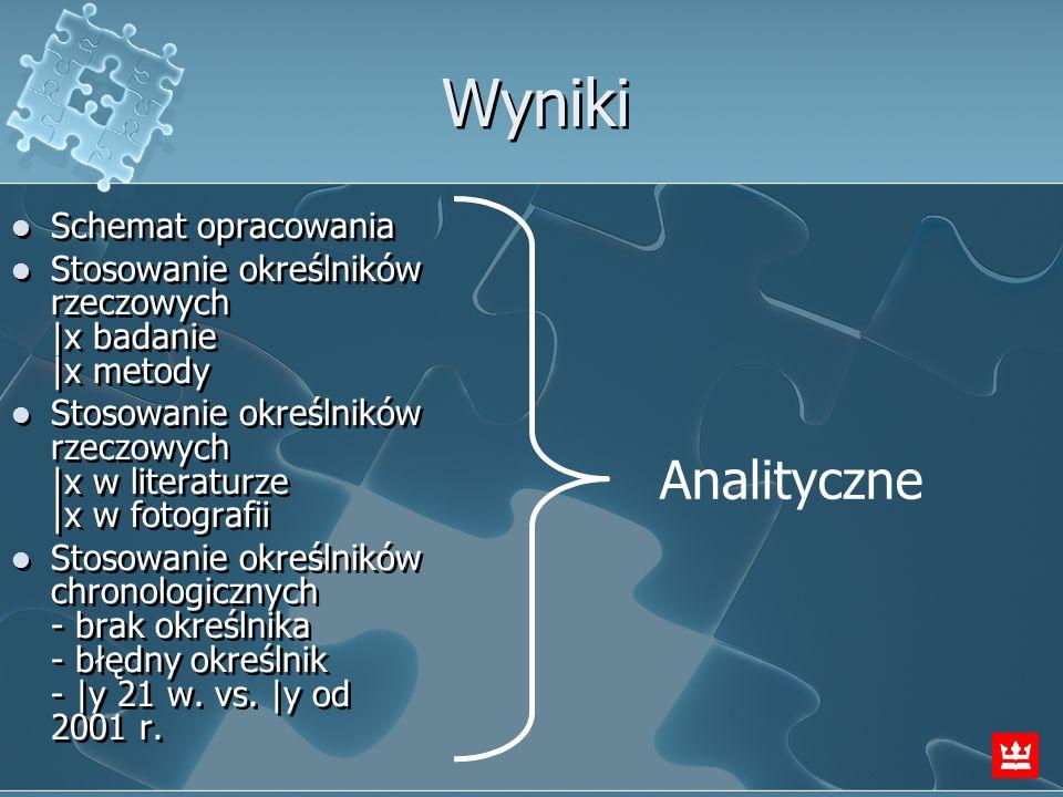 Wyniki Analityczne Schemat opracowania