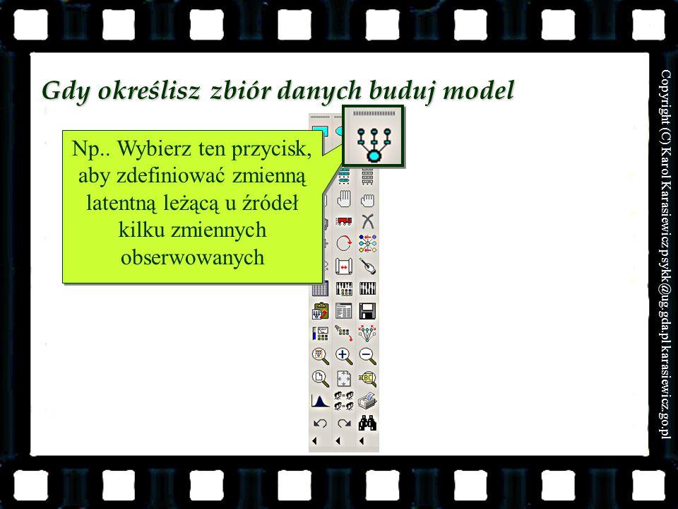 Gdy określisz zbiór danych buduj model