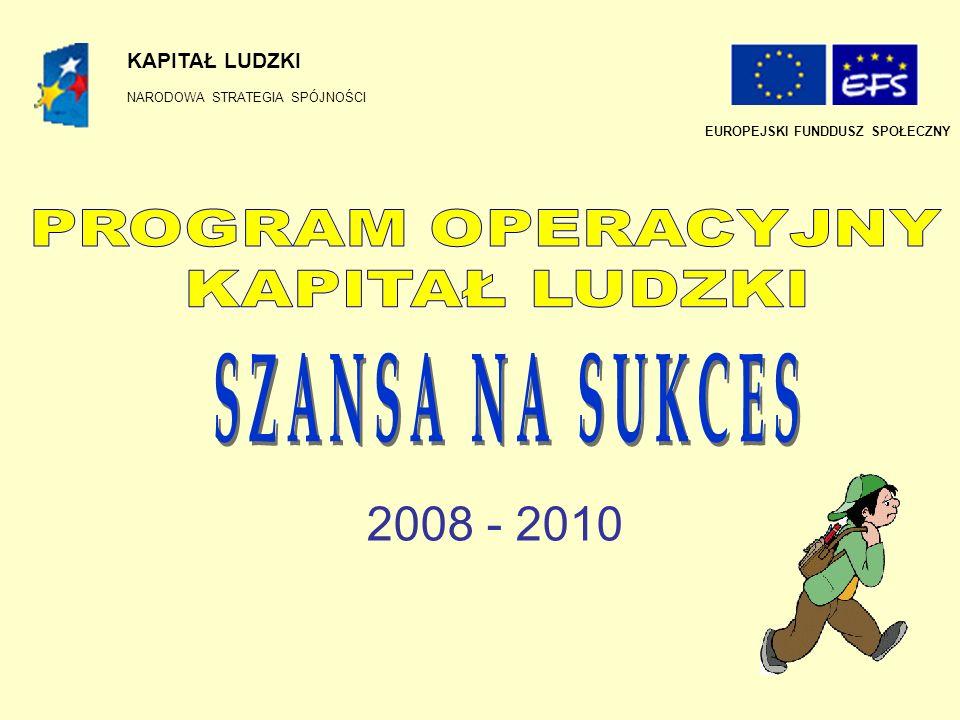 SZANSA NA SUKCES 2008 - 2010 PROGRAM OPERACYJNY KAPITAŁ LUDZKI