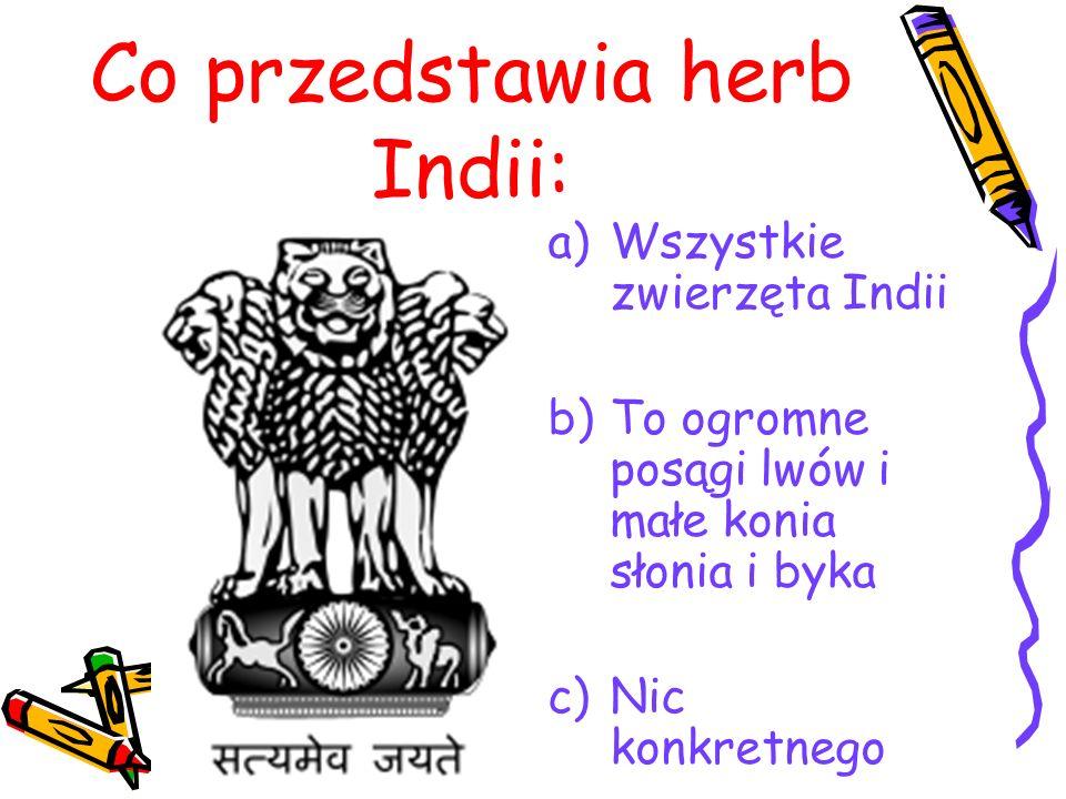 Co przedstawia herb Indii:
