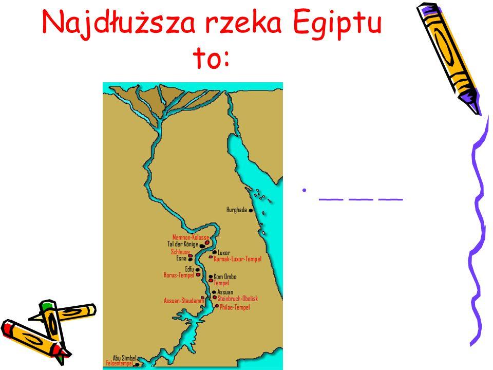 Najdłuższa rzeka Egiptu to: