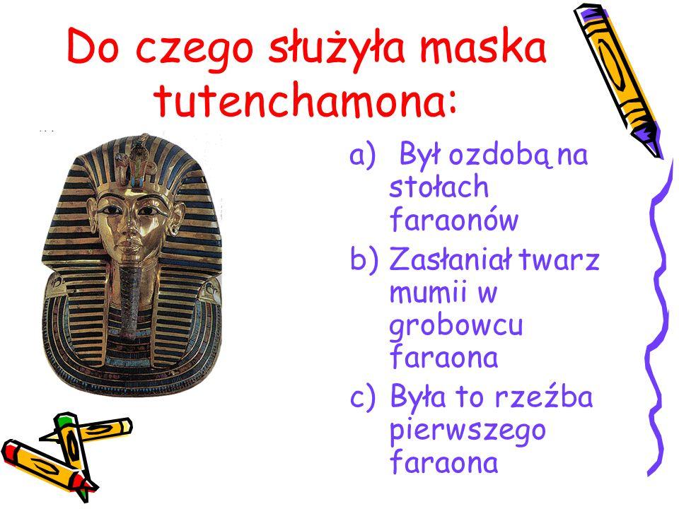 Do czego służyła maska tutenchamona: