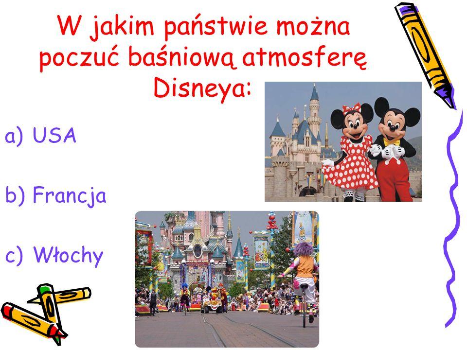 W jakim państwie można poczuć baśniową atmosferę Disneya:
