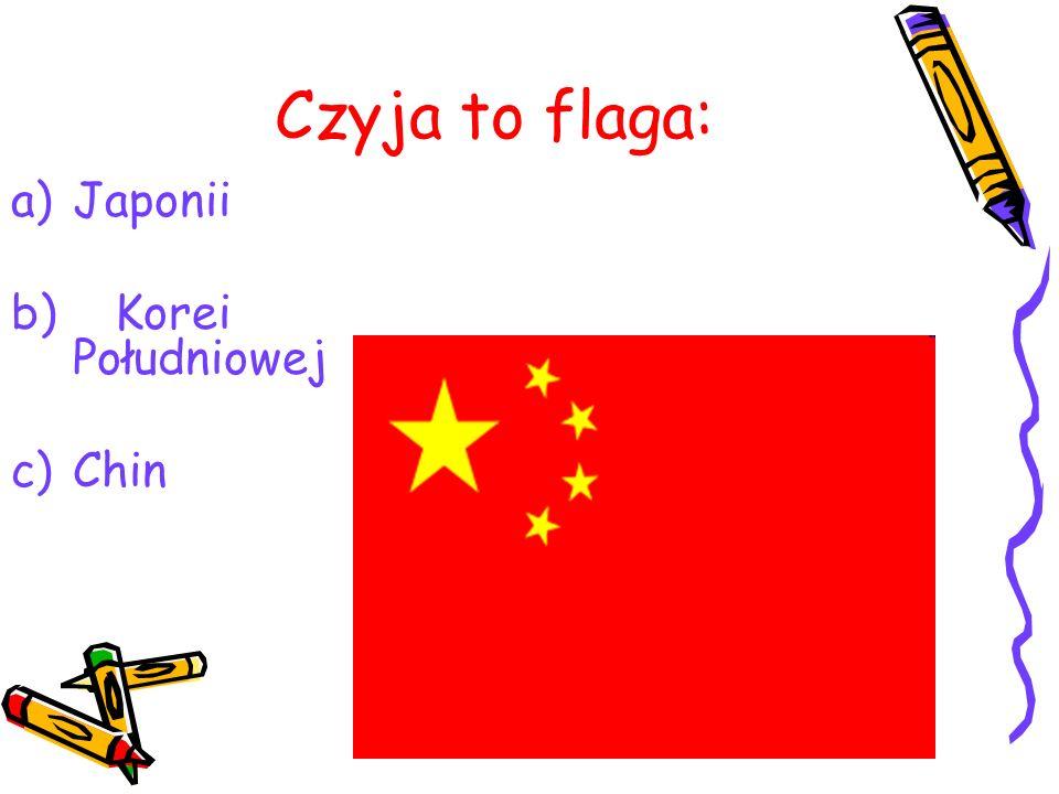 Czyja to flaga: Japonii Korei Południowej Chin