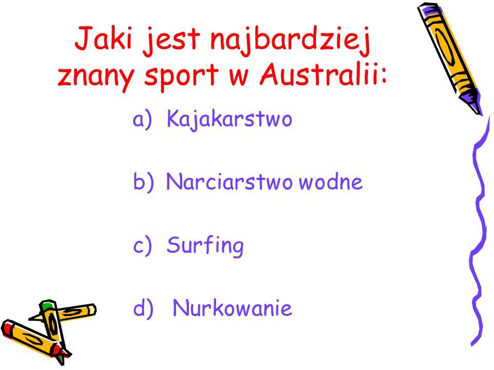 Jaki jest najbardziej znany sport w Australii:
