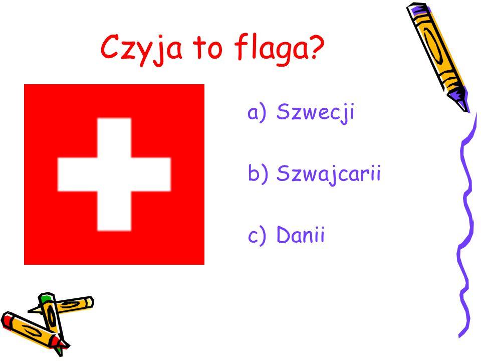 Czyja to flaga Szwecji Szwajcarii Danii