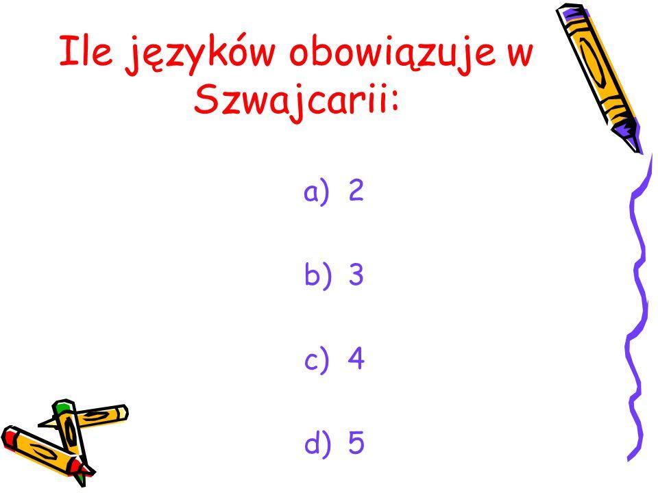 Ile języków obowiązuje w Szwajcarii: