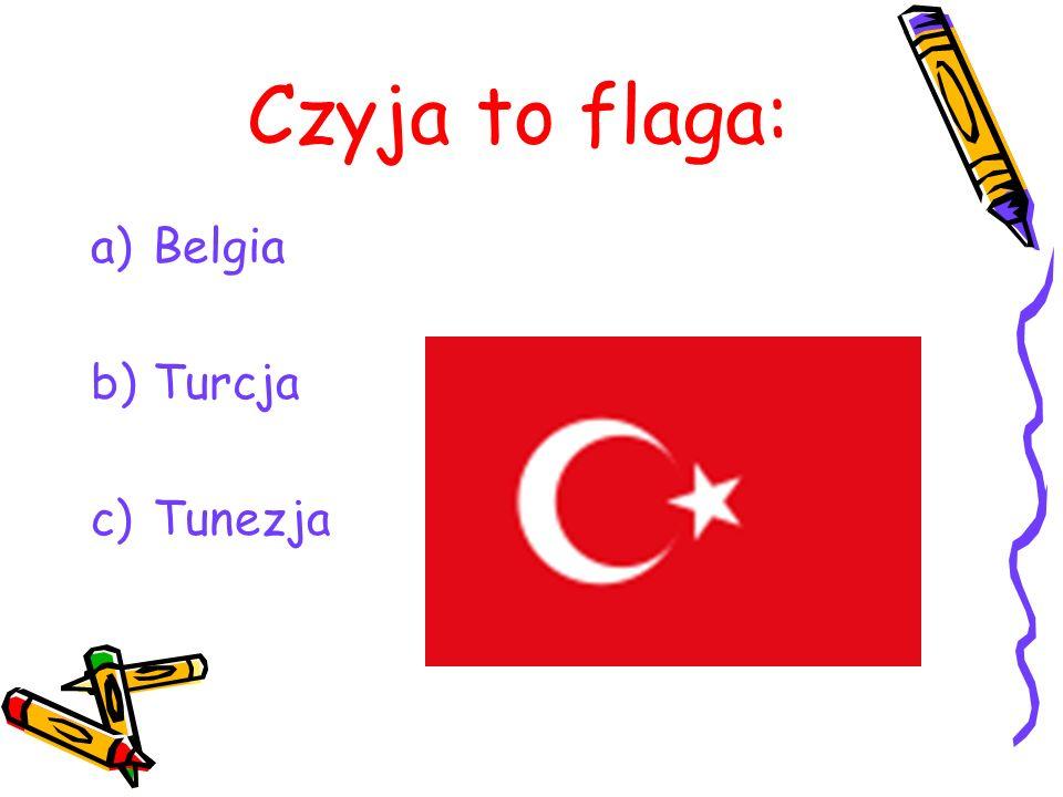 Czyja to flaga: Belgia Turcja Tunezja