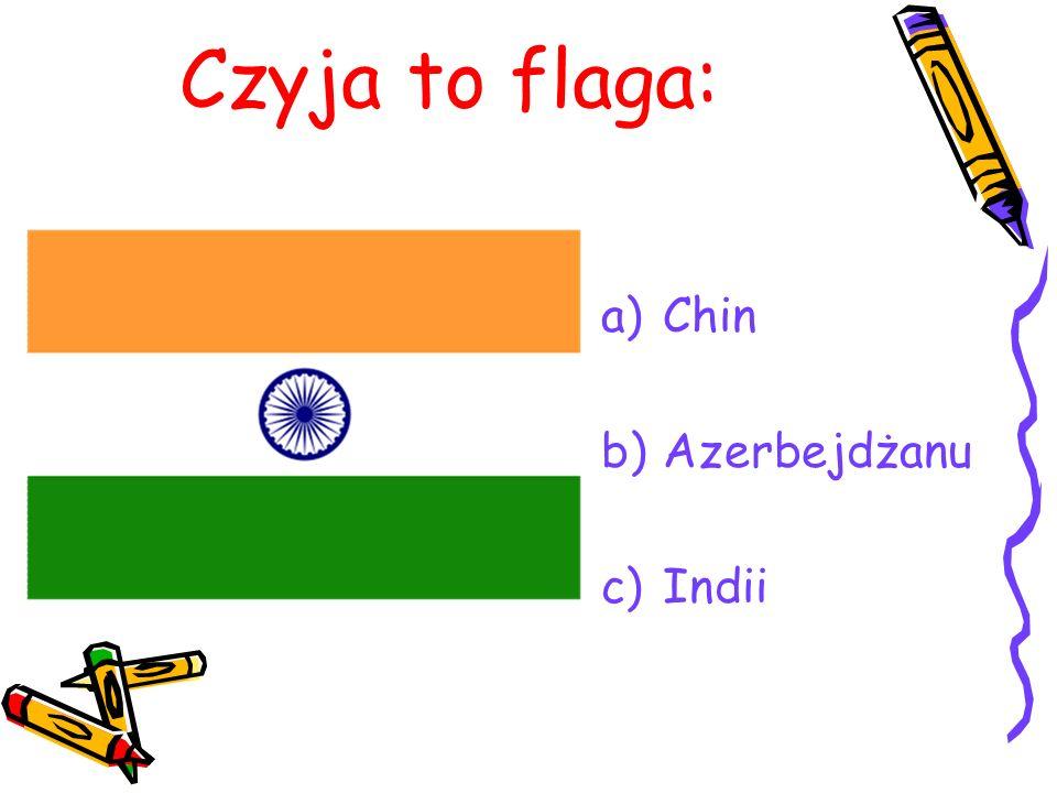 Czyja to flaga: Chin Azerbejdżanu Indii