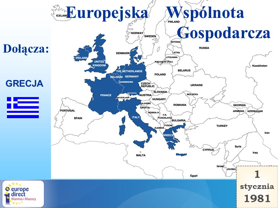Europejska Wspólnota Gospodarcza Dołącza: GRECJA 1 stycznia 1981