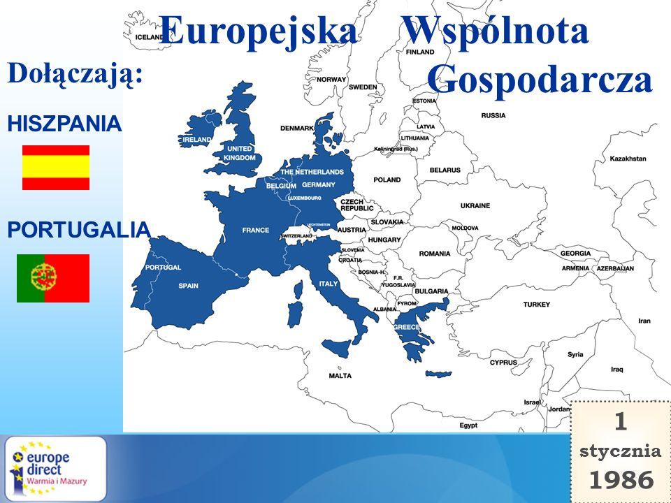 Europejska Wspólnota Gospodarcza Dołączają: 1 1986 HISZPANIA