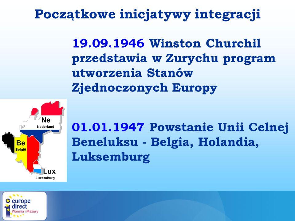 Początkowe inicjatywy integracji