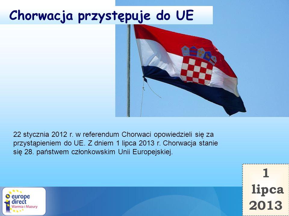 Chorwacja przystępuje do UE