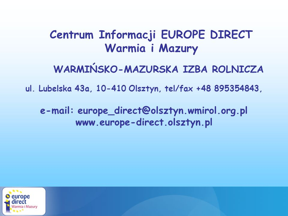 Centrum Informacji EUROPE DIRECT Warmia i Mazury