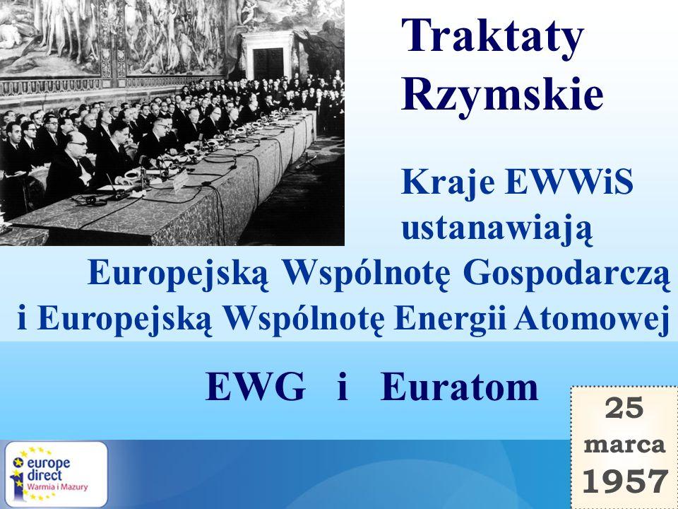 Traktaty Rzymskie EWG i Euratom Kraje EWWiS ustanawiają