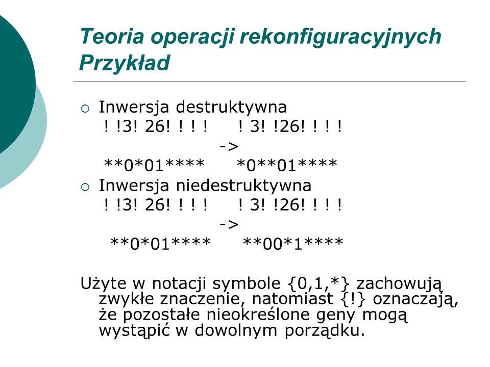 Teoria operacji rekonfiguracyjnych Przykład