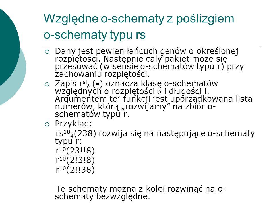 Względne o-schematy z poślizgiem o-schematy typu rs