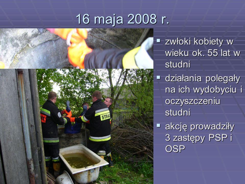16 maja 2008 r. zwłoki kobiety w wieku ok. 55 lat w studni