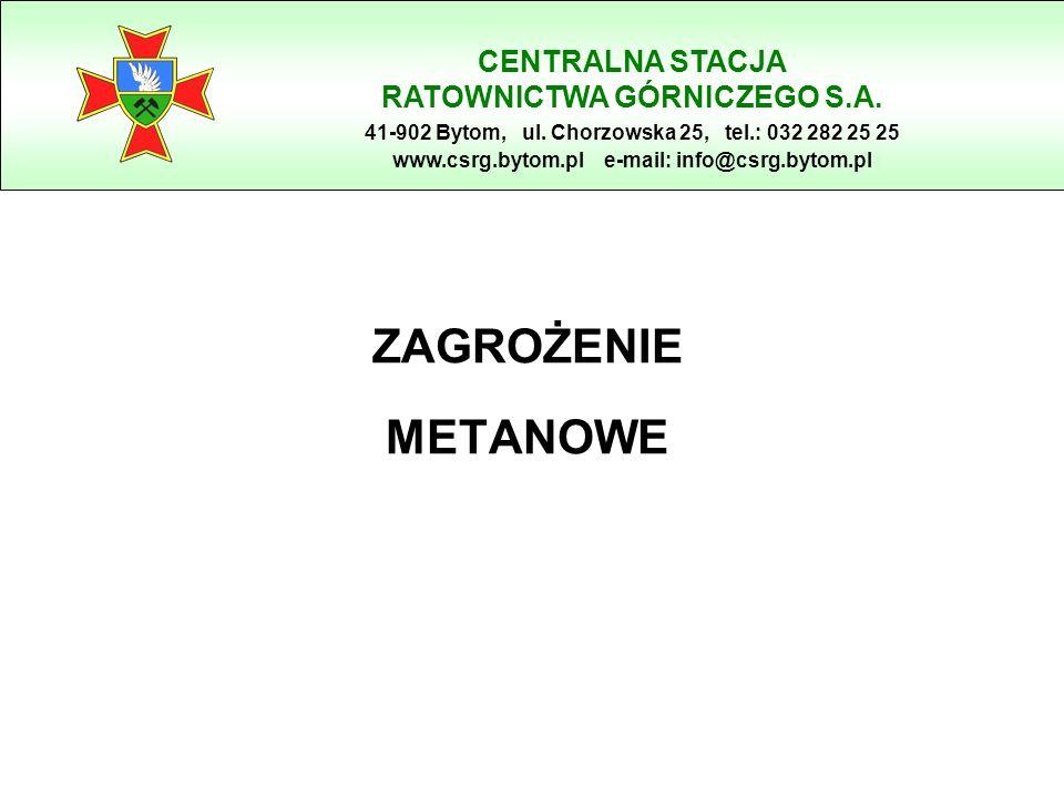 ZAGROŻENIE METANOWE CENTRALNA STACJA RATOWNICTWA GÓRNICZEGO S.A.