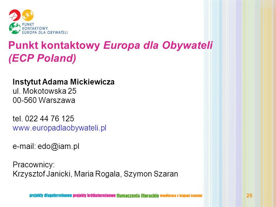 Punkt kontaktowy Europa dla Obywateli (ECP Poland)