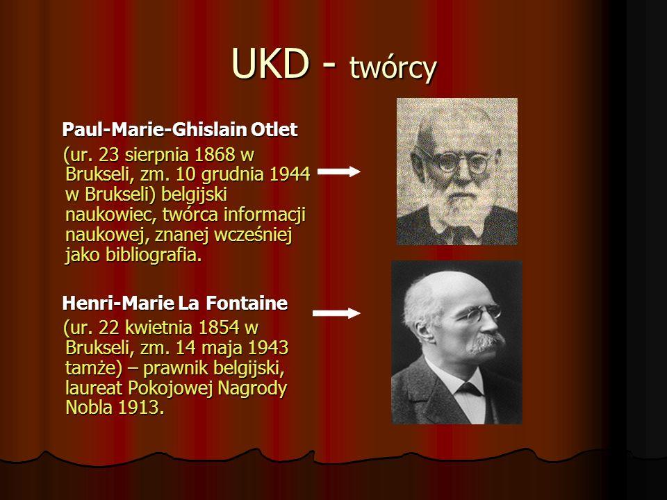 UKD - twórcy Paul-Marie-Ghislain Otlet