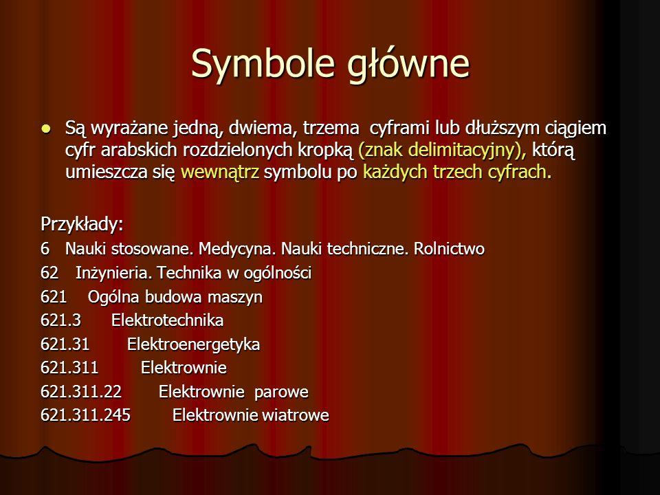 Symbole główne