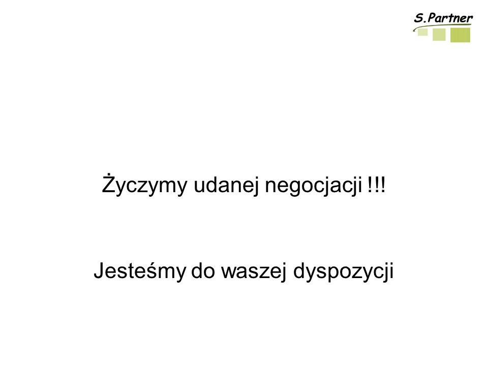 Życzymy udanej negocjacji !!!