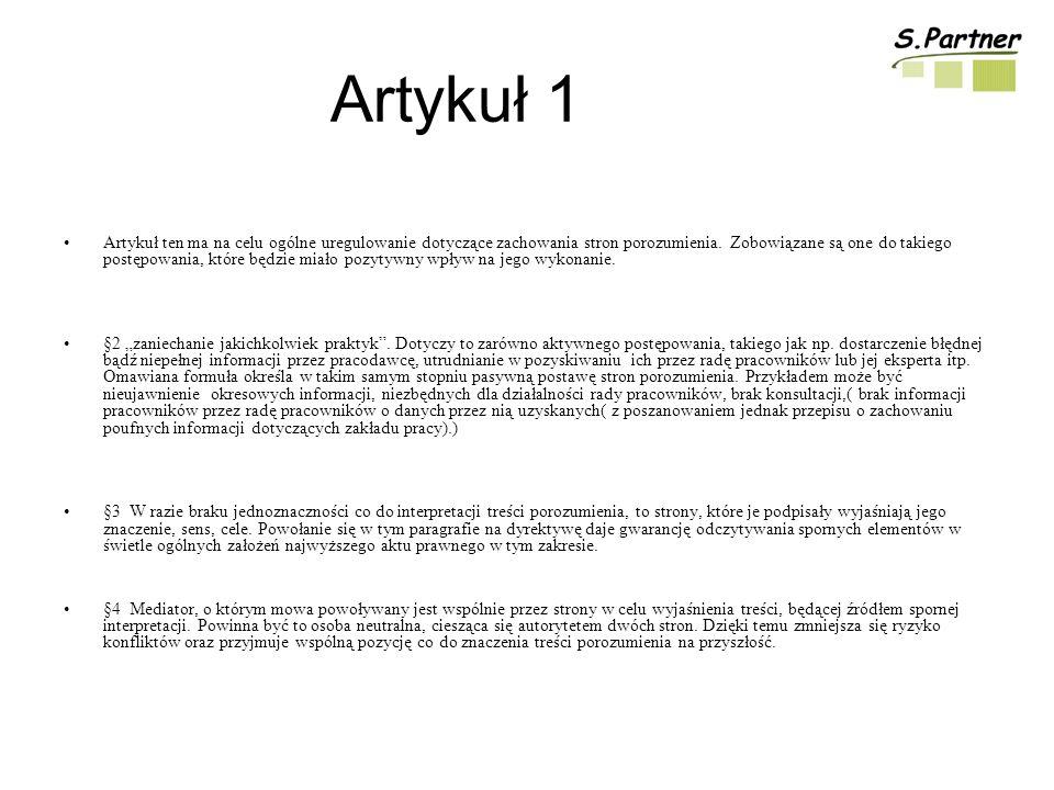 Artykuł 1
