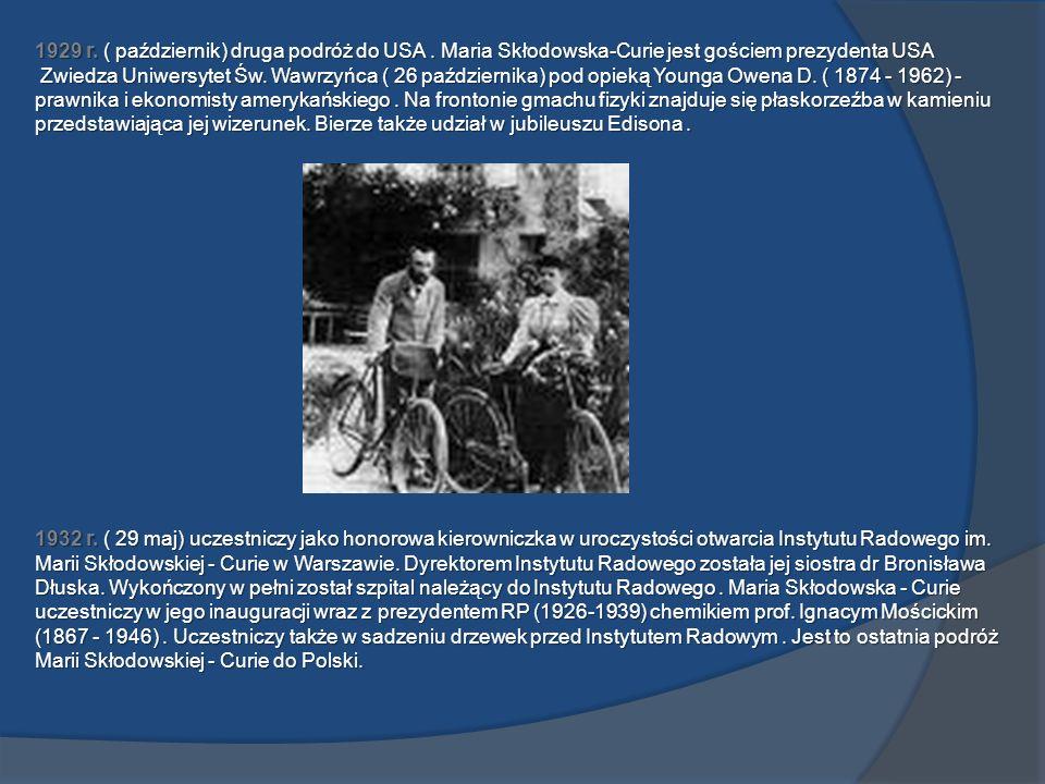 1929 r. ( październik) druga podróż do USA