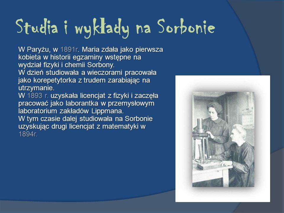 Studia i wykłady na Sorbonie