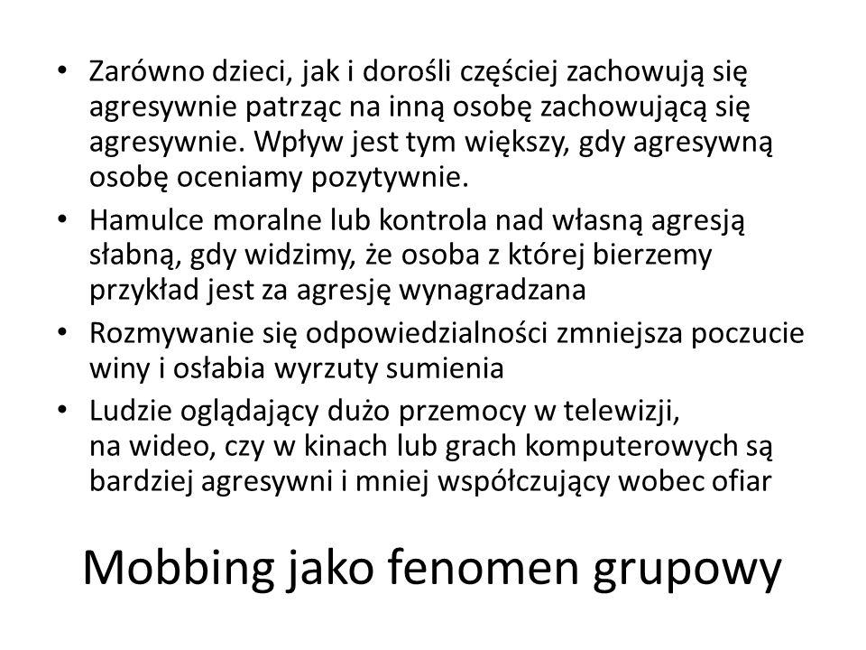 Mobbing jako fenomen grupowy