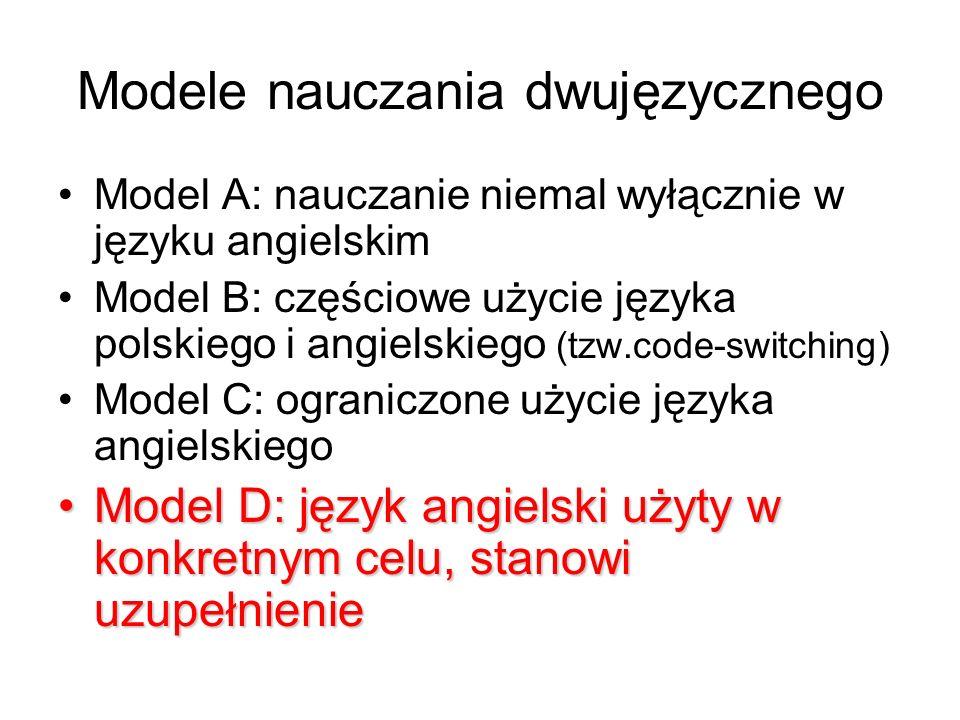 Modele nauczania dwujęzycznego