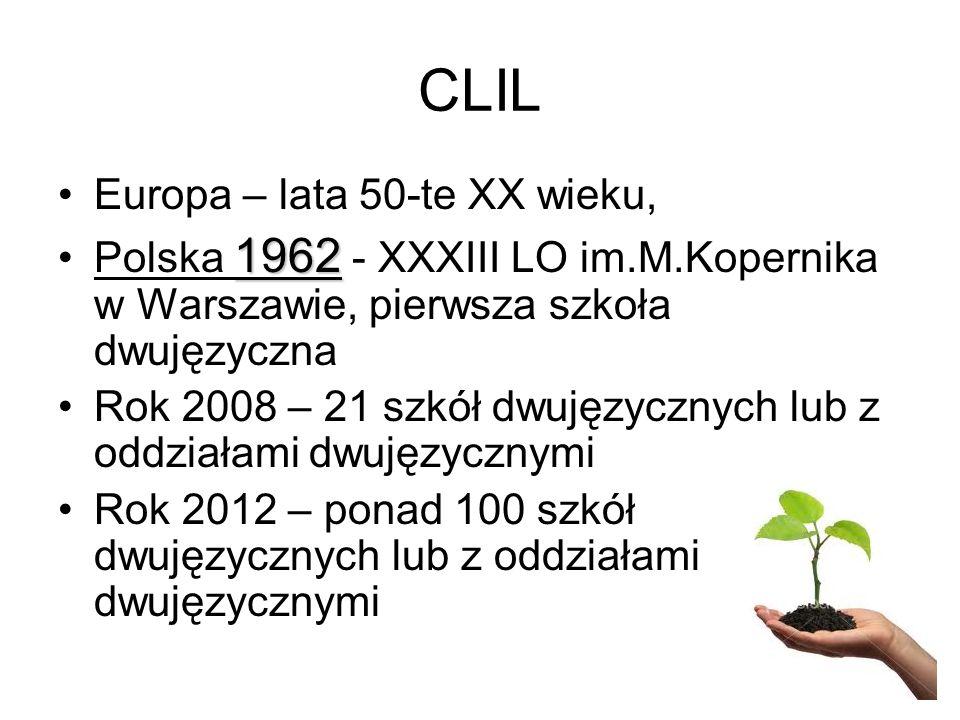 CLIL Europa – lata 50-te XX wieku,