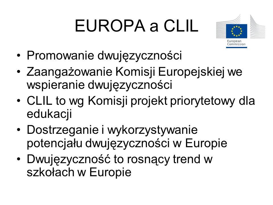 EUROPA a CLIL Promowanie dwujęzyczności