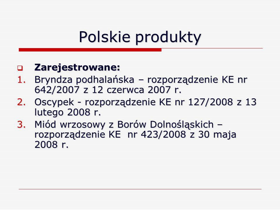 Polskie produkty Zarejestrowane: