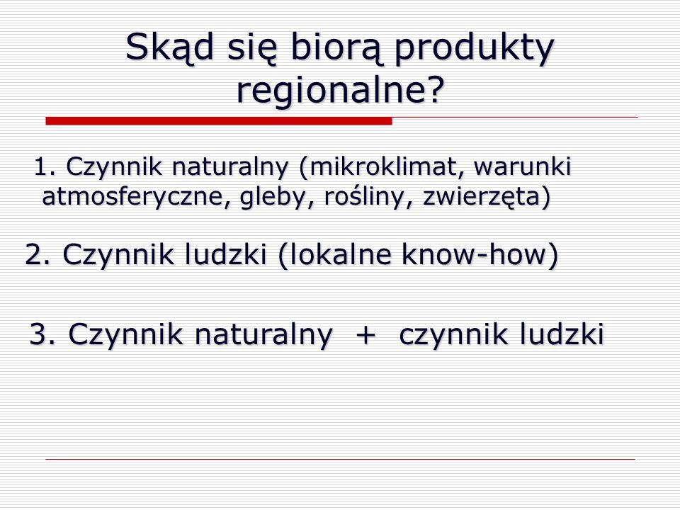 Skąd się biorą produkty regionalne