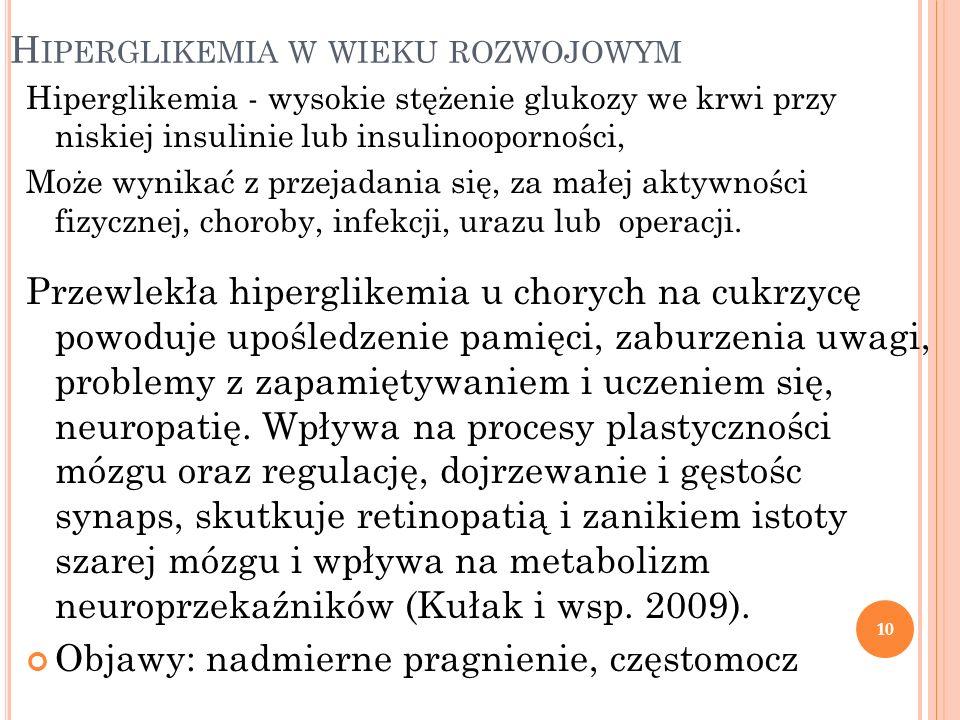Hiperglikemia w wieku rozwojowym