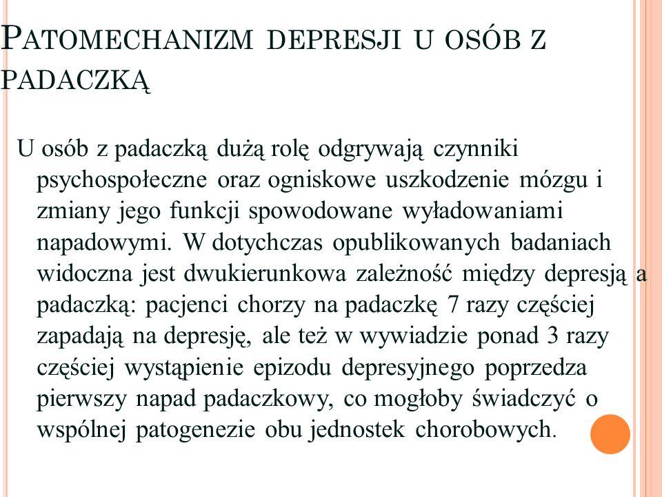 Patomechanizm depresji u osób z padaczką